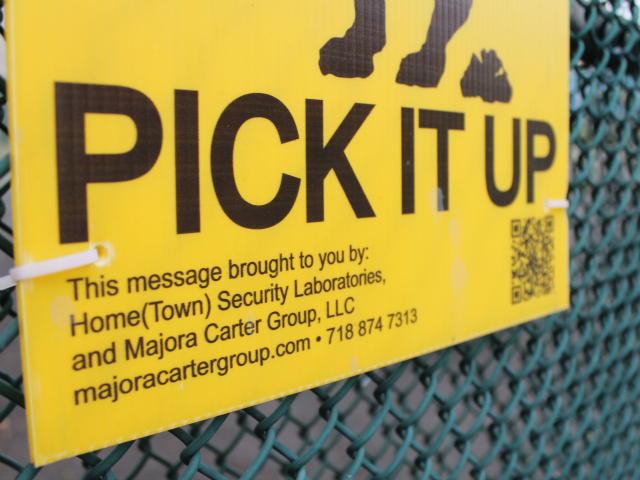 Carter's new nonprofit, Hometown Security Laboratories, designed the free signs as a low-tech way to spur neighborhood revitalization.