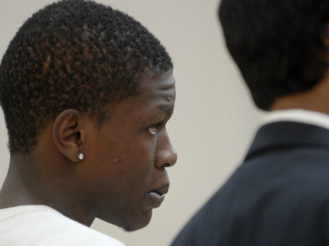 Rondell Pinkerton, 17, at Bronx Supreme Court on Wednesday, July 25, 2012,  where he was arraigned on murder charges in the shooting of 4-year-old Lloyd Morgan.