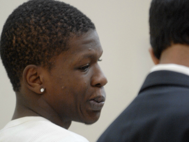 Rondell Pinkerton, 17, at Bronx Supreme Court on Wednesday, July 25, 2012.  He was arraigned on murder charges in the shooting of 4-year-old Lloyd Morgan.