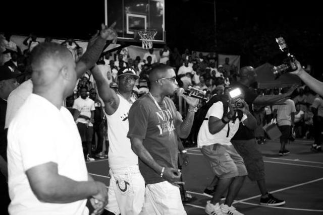 Rapper Nas made an appearance at Rucker Park on July 17, 2012 to promote his new album