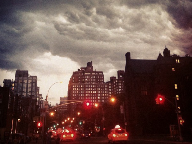 Forecasters predicted a severe thunderstorm in New York City July 26, 2012.