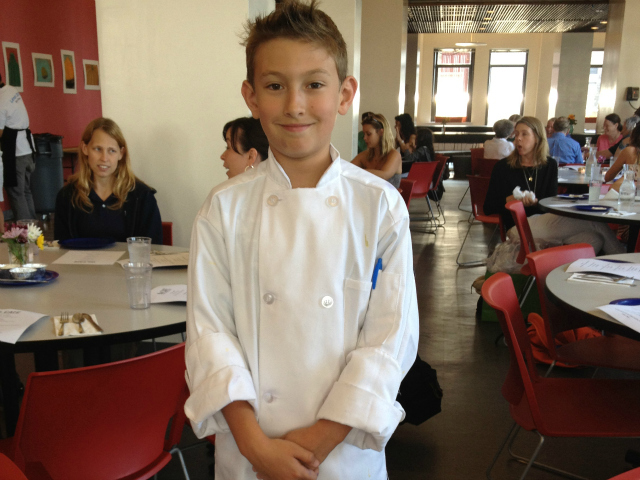 Sam Wohabe in his chef outfit.