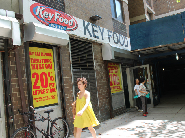The old Key Food will close as soon as the new 55 Fulton Market opens.