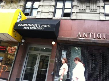 Narragansett Hotel, were a man, 56, was found stabbed to death on July 27, 2012.