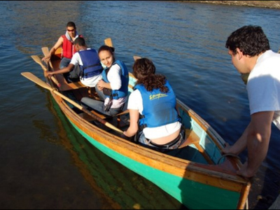 Rocking the Boat offers community rows at the Hunts Point Riverside Park on Saturdays.