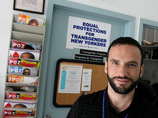 Renato Barucco manages the Transgender Family Program at the Bronx Health Center. The program offers primary care, HIV testing, hormone treatment, counseling and support with practical matters.