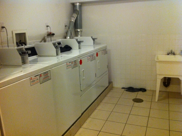 The laundry room at 188 Meserole Ave. #2N.