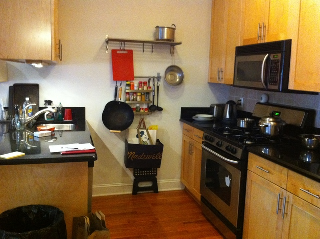 The kitchen of 188 Meserole Ave. #2N.