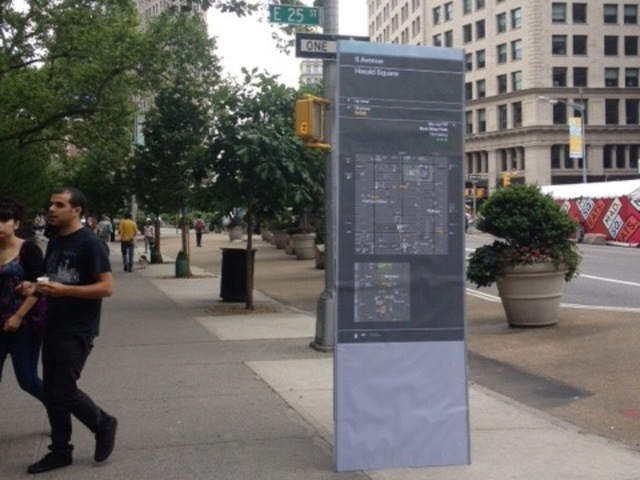 Cardboard mock-ups were recently unveiled near Madison Square Park in Manhattan.