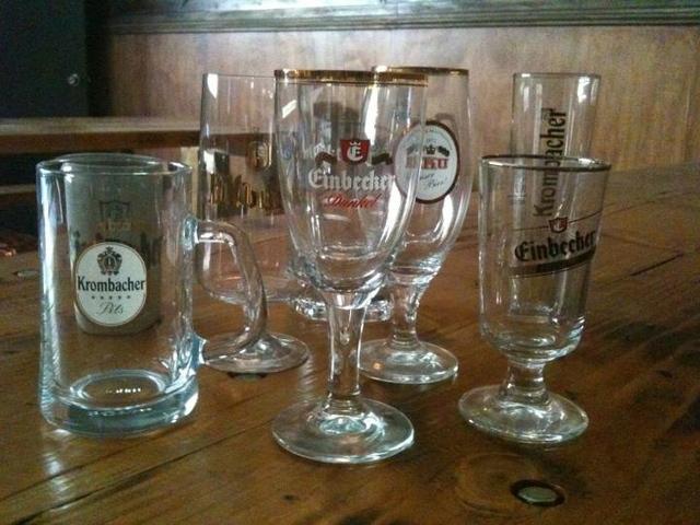 Each beer at Die Koelner Bierhalle will have its own glass.
