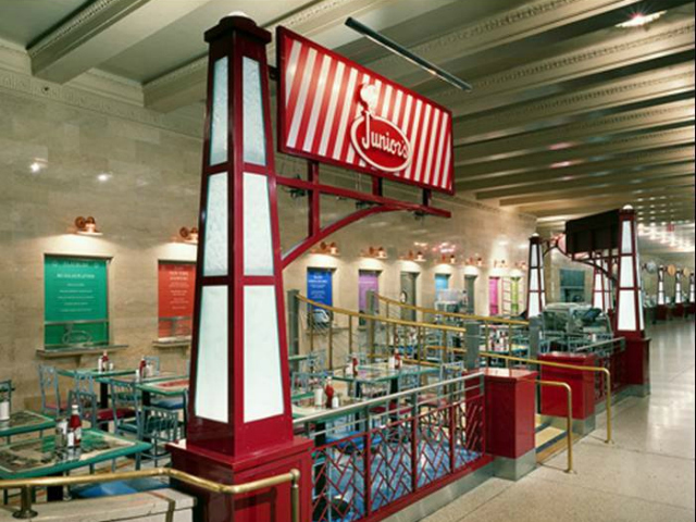 Since it was founded in 1950, Junior's has opened a branch in Grand Central Terminal.