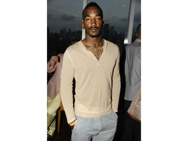 J.R. Smith at the launch of the Kelly Rowland CEO Tech Special Edition watch at the Top of the Standard, Tuesday, July 31, 2012.
