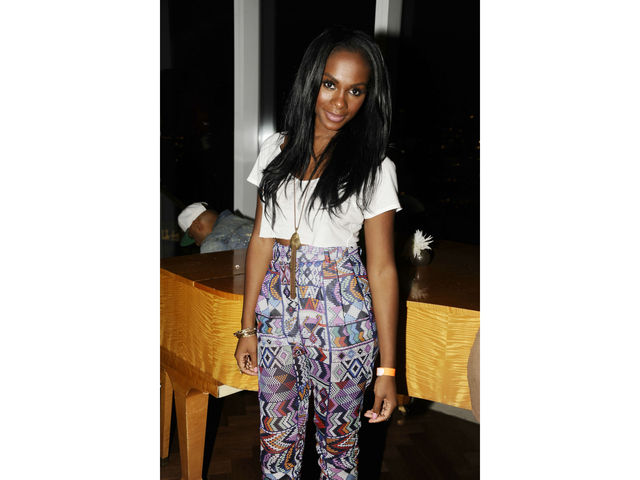 Tika Sumpter at the launch of the Kelly Rowland CEO Tech Special Edition watch at the Top of the Standard, Tuesday, July 31, 2012.