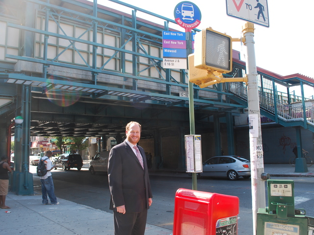 Councilmember Dan Greenfield, who championed relocating bus stops for the B6 and B11 buses in Midwood, stands by the new stops.