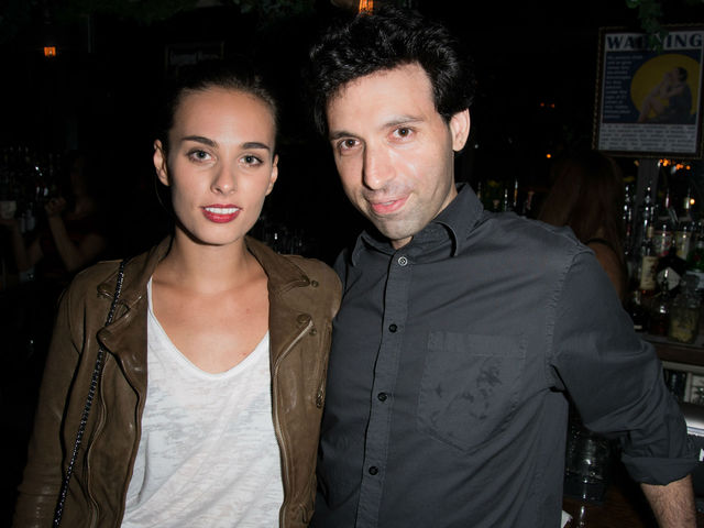 Sophie Auster and Alex Karpovsky at the screening of