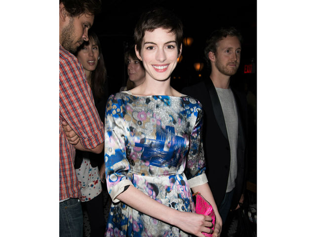 Anne Hathaway at the screening of