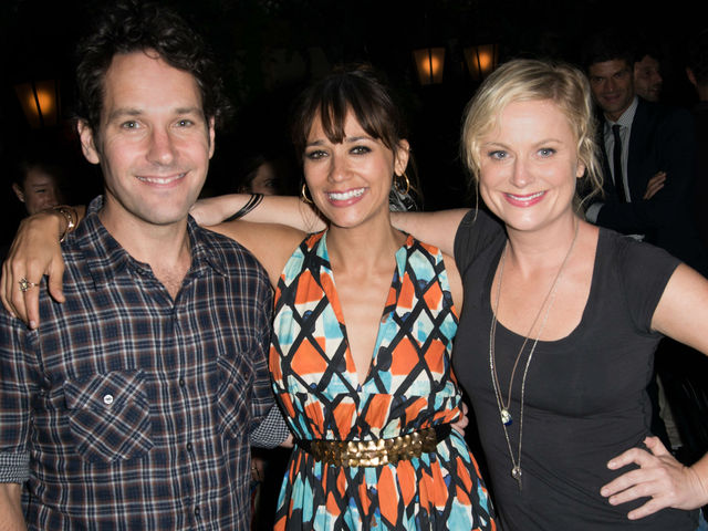 Paul Rudd, Rashida Jones and Amy Poehler at the screening of