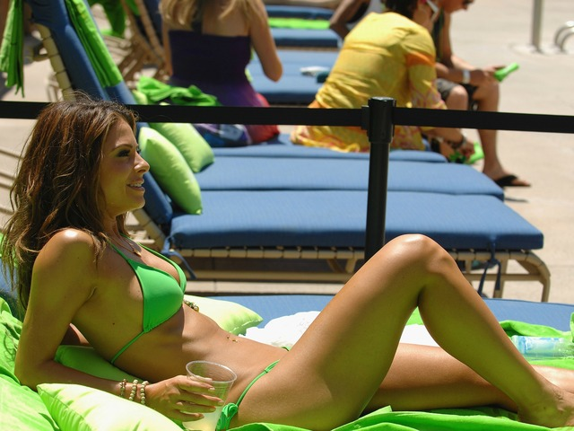 LAS VEGAS, NV - MAY 05: Television host & actress Maria Menounos hosts the poolside Bud Light Lime 'Lime-A-Rita' Cinco de Mayo party on May 5, 2012 in Las Vegas, Nevada.