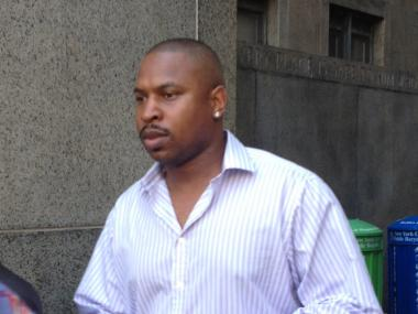 Detroit Tiger's Star Delmon Young leaves Manhattan Criminal Court on August 2, 2012.