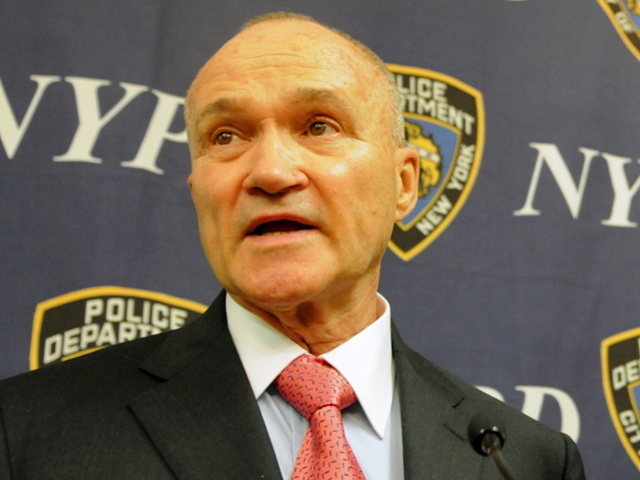 <p>Police Commissioner Ray Kelly at a Aug. 3, 2012 press conference where he addressed declines in stop-and-frisk numbers.</p>