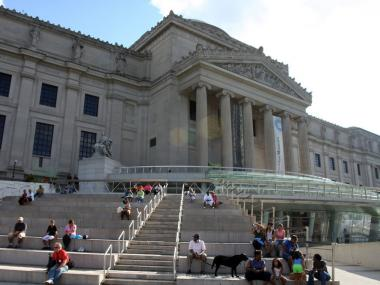 The Brooklyn Museum, across the street from 175 Eastern Parkway.