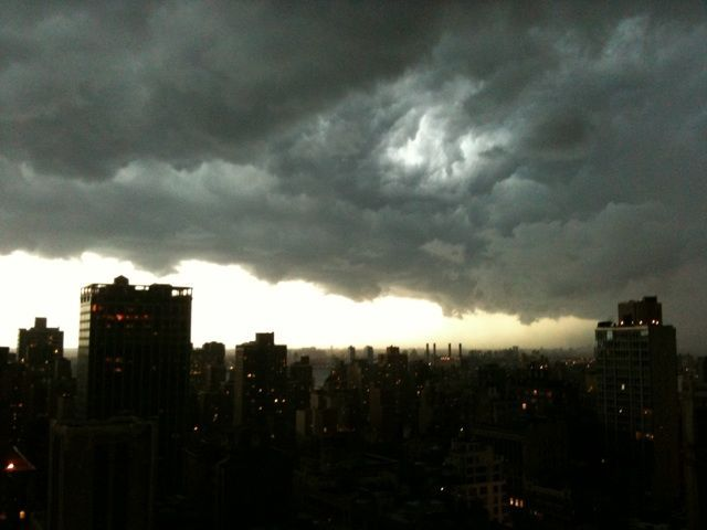 Dark clouds hung over the city Aug. 5, 2012.