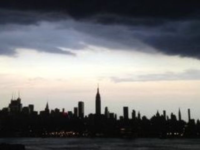 A Sunday night storm cooled temperatures in the city on Aug. 5, 2012.