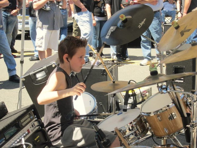 The FaZe4 Rockers, a band whose members range from 8 to 11 years old, will perform at Staten Island's Midland Beach Aug. 18, 2012.