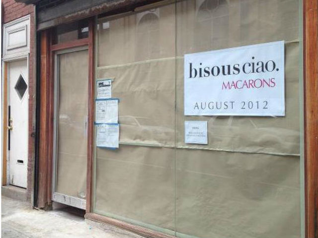 Bisous Ciao Macarons posted a photo of its new West Village space on its Facebook page. The location will open in August.