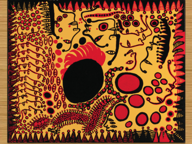 Yayoi Kusama (b. 1929), An Encounter with a Flowering Season, 2009. Synthetic polymer on canvas, 51 5/16 x 63 3/4 in. (130.3 x 162 cm). Collection of the artist.
