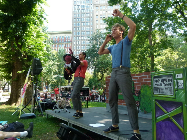 The Pop Ups performing at Madison Square Park, which has run a kids concert series for the past 10 years.