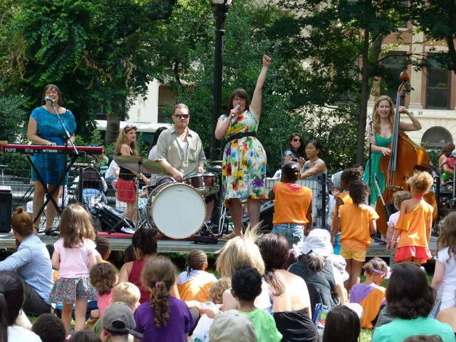 The kids concert line-up at Madison Square Park includes bands like The Itty Bitties.
