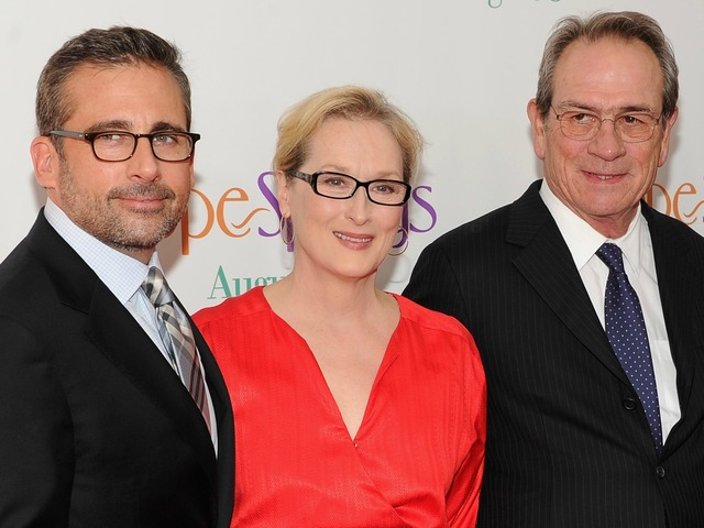 Steve Carell, Meryl Streep and Tommy Lee Jones attend the premiere of