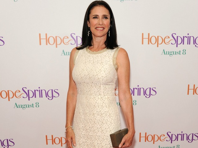 Mimi Rogers attends the premiere of