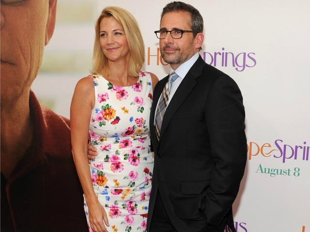 Steve Carell and wife Nancy Walls attend the premiere of
