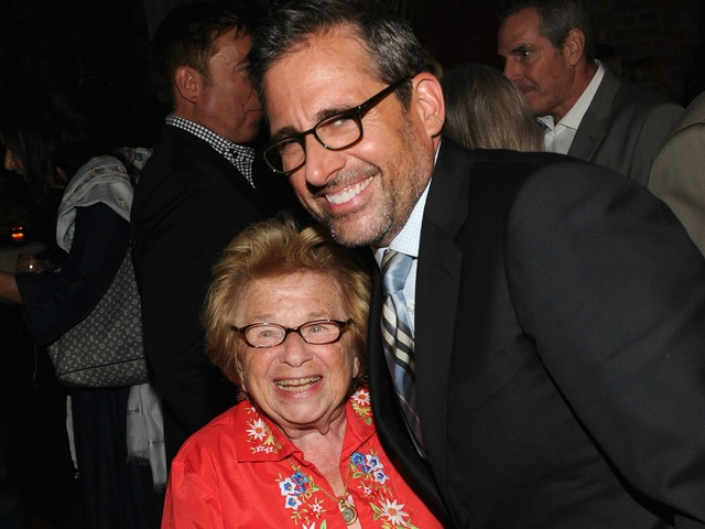 Steve Carell and Dr. Ruth Westheimer attend the premiere of