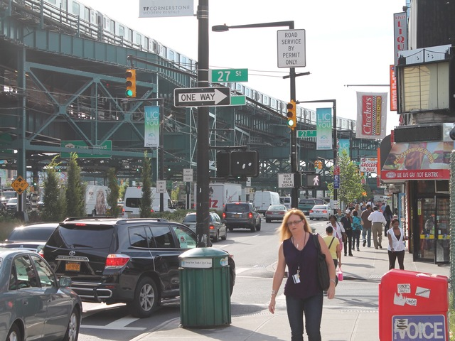 Pedestrian traffic in the area has risen by about one-third during the last two years.
