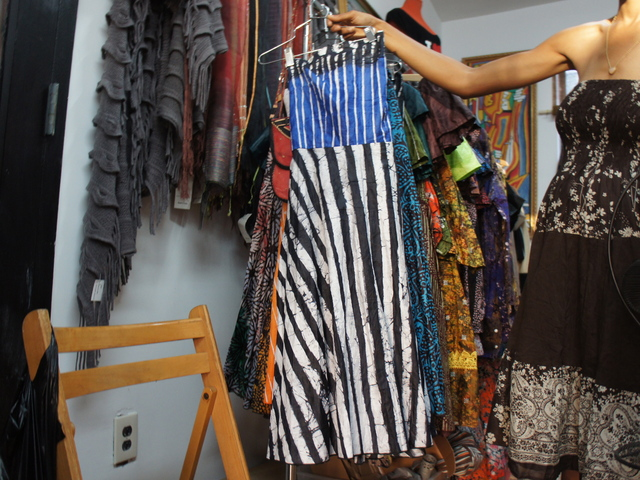 A cotton dress by Nigerian-born designer Wunmi on sale at Calabar Imports in Crown Heights.