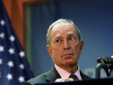 New York City Mayor Michael Bloomberg speaks to the media at the opening of the Workforce1 Veterans Career center on July 31, 2012.