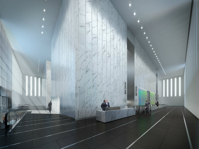The lobby of 1 World Trade Center.