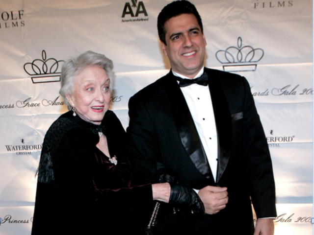Actress Celeste Holm and Frank Basile attend the 2005 Princess Grace Foundation-USA Awards Gala at Cipriani 42nd Street October 26, 2005, in the city.
