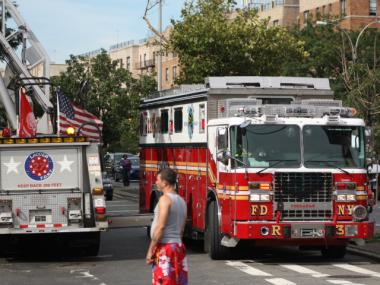 A fire broke out at 230 W. 54th St., near the David Letterman Studios, on August 9, 2012.