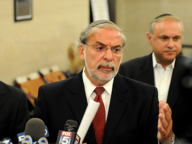 <p>Leiby Kletzky family spokesman Assemblyman Dov Hikind said the family was happy Levi Aron plead guilty to killing their 8-year-old son because it meant they would not have to go through the pain of a trial, Aug. 9, 2012.</p>