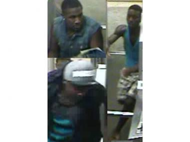 The men in these photos allegedly robbed a man on a southbound 1 Train in The Bronx early Monday, July 30, 2012.