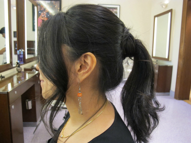 The finished product, Pak said, is a fun and trendy alternative to a more traditional up 'do.