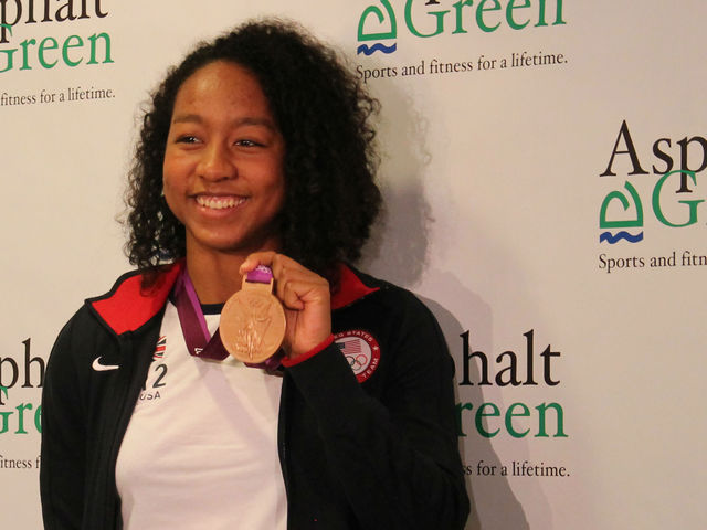 Lia Neal, 17, returns to New York an Olympic bronze medalist.