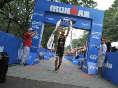 Jordan Rapp wins the U.S. Ironman Championship.