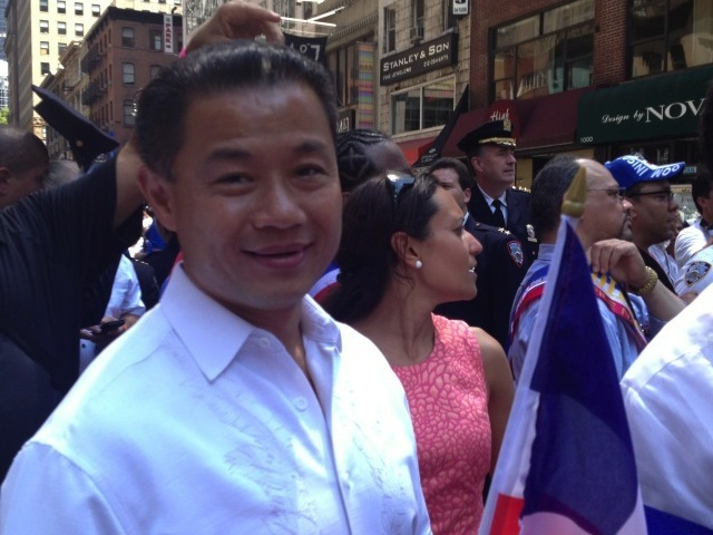 <p>John Liu at the Dominican Day Parade, Aug. 12, 2012.</p>