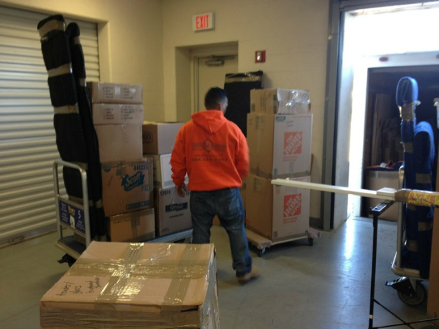 Moving experts, like Yankee Movers (pictured), suggest avoiding the end of the month.