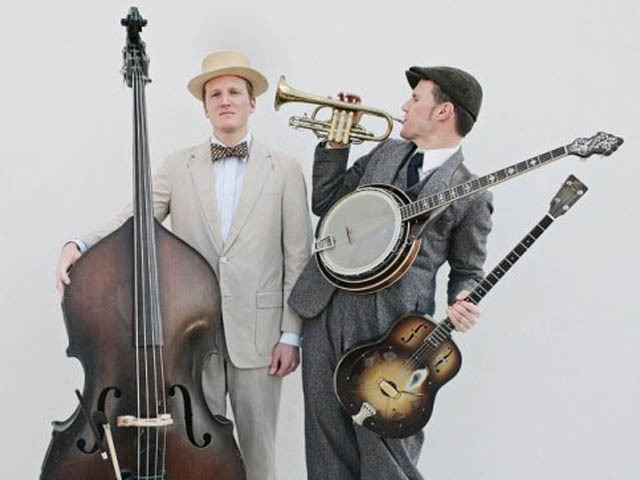 The Two Man Gentleman Band their retro Jazz and Western swing sound to Rodeo Bar in Gramcery on Wednesday.
